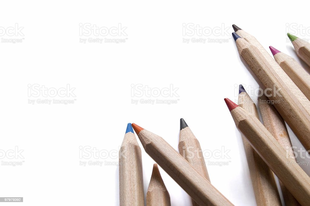 wooden pencils isolated on white royalty-free stock photo