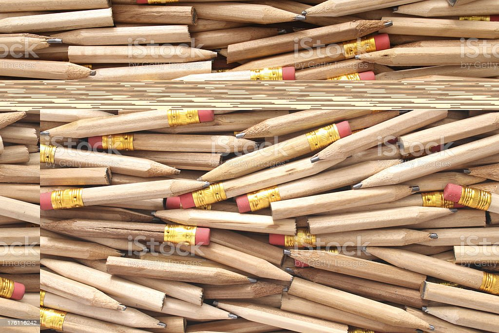 Wooden pencils royalty-free stock photo