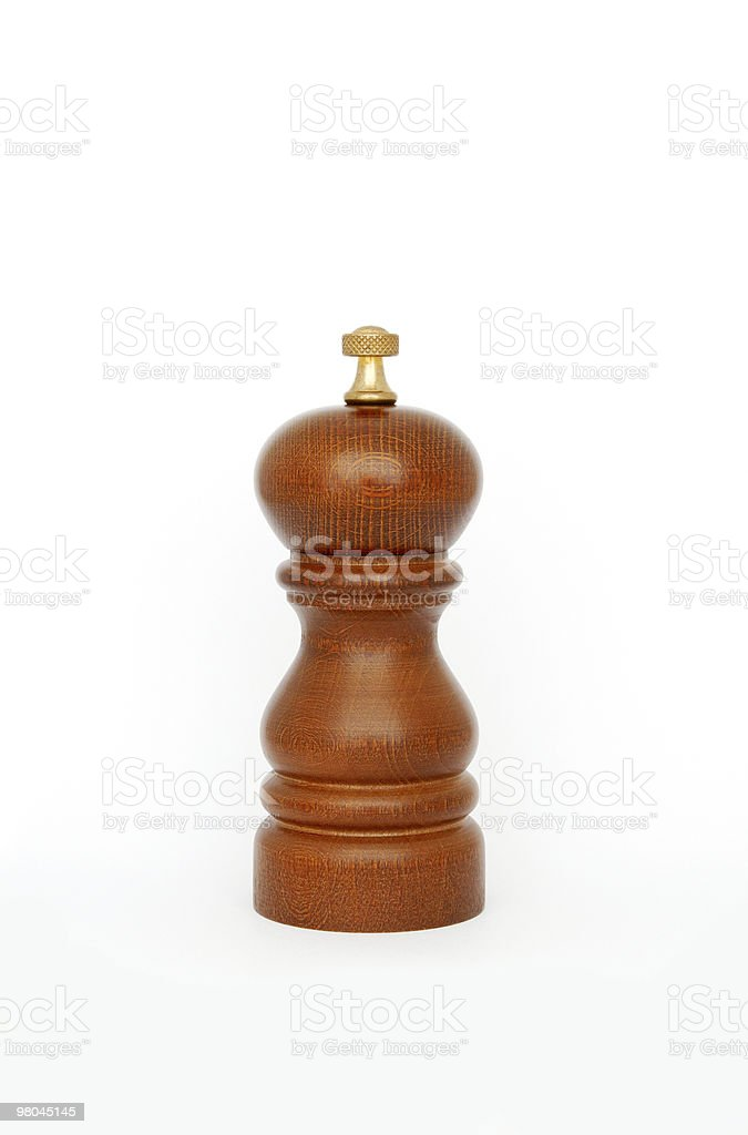 Wooden pepper mill royalty-free stock photo