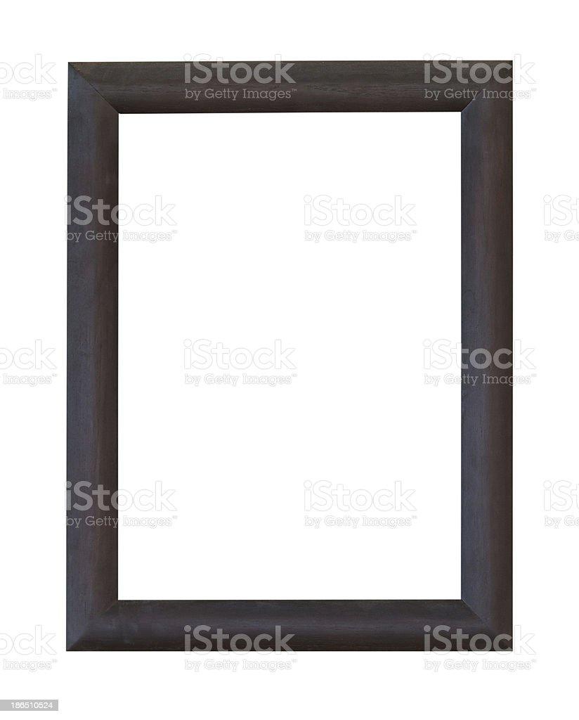 Wooden photo frame royalty-free stock photo