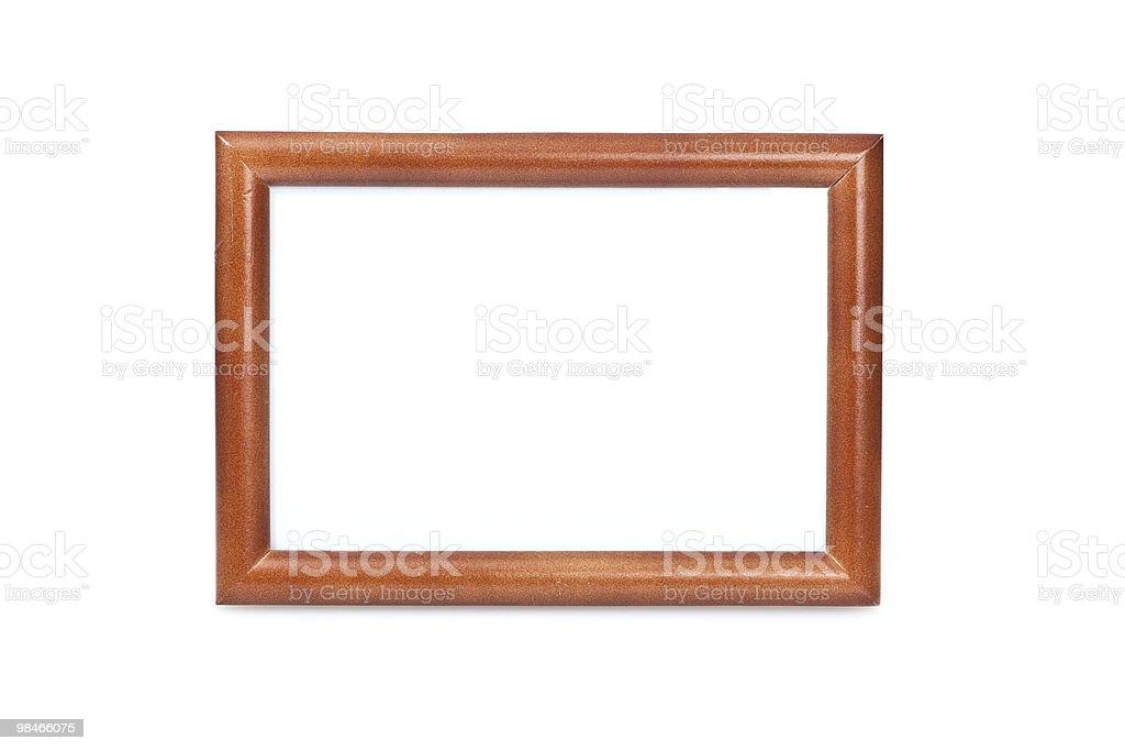 Wooden photo frame. royalty-free stock photo