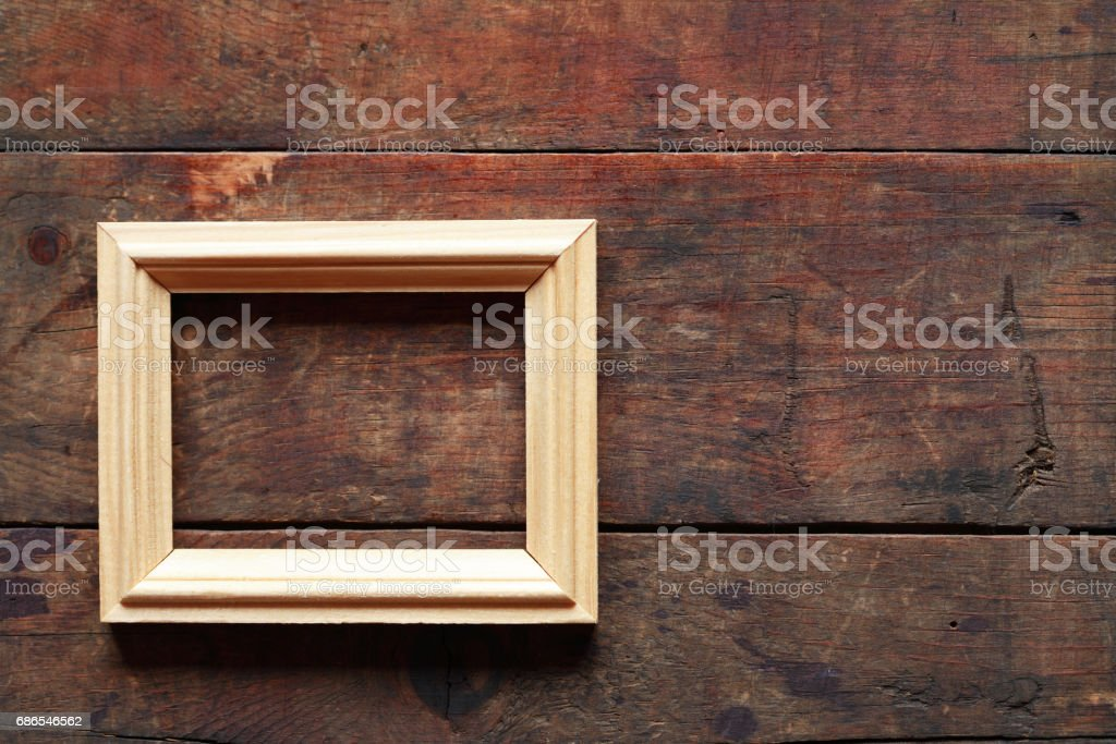Wooden Picture Frame foto stock royalty-free