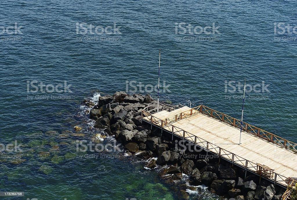 wooden pier royalty-free stock photo