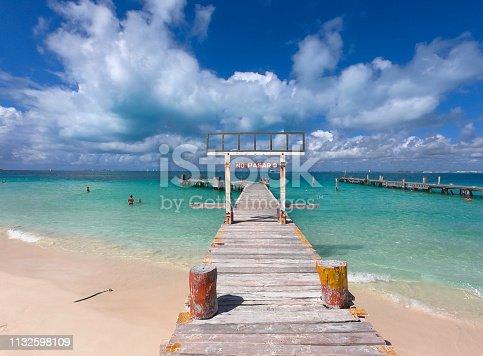 Wooden pier with ocean view