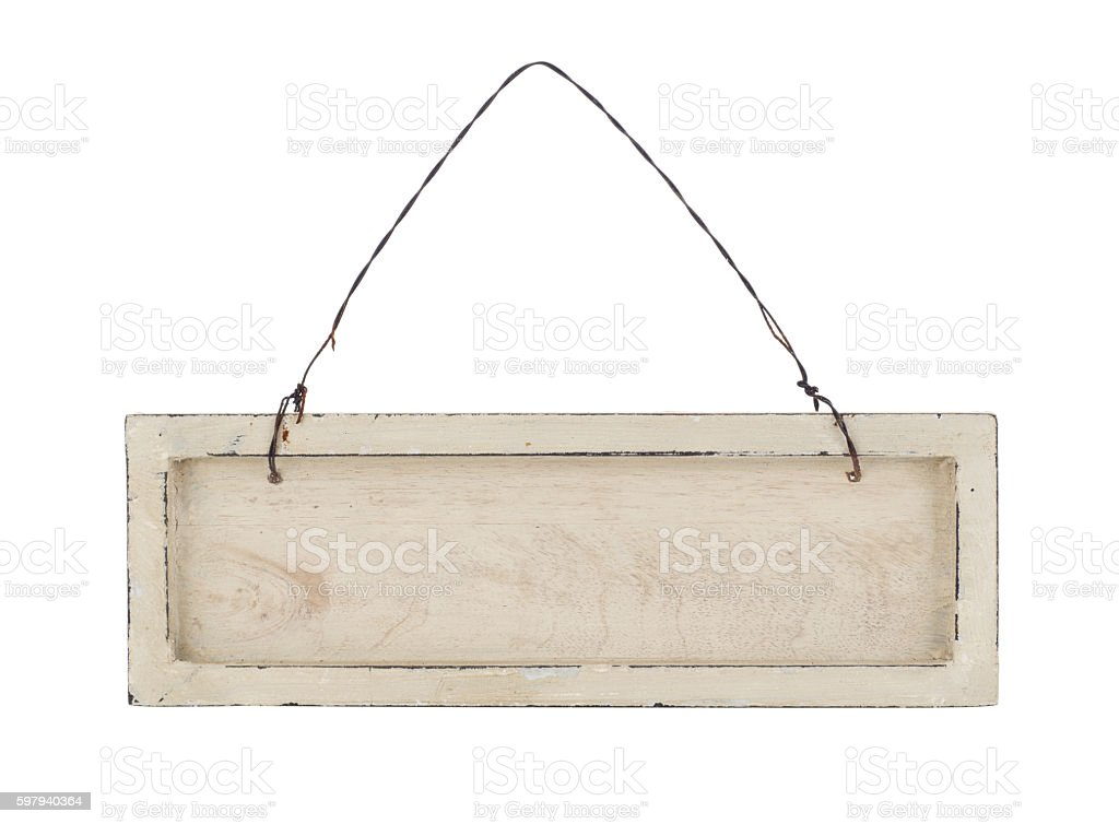 Wooden placard stock photo
