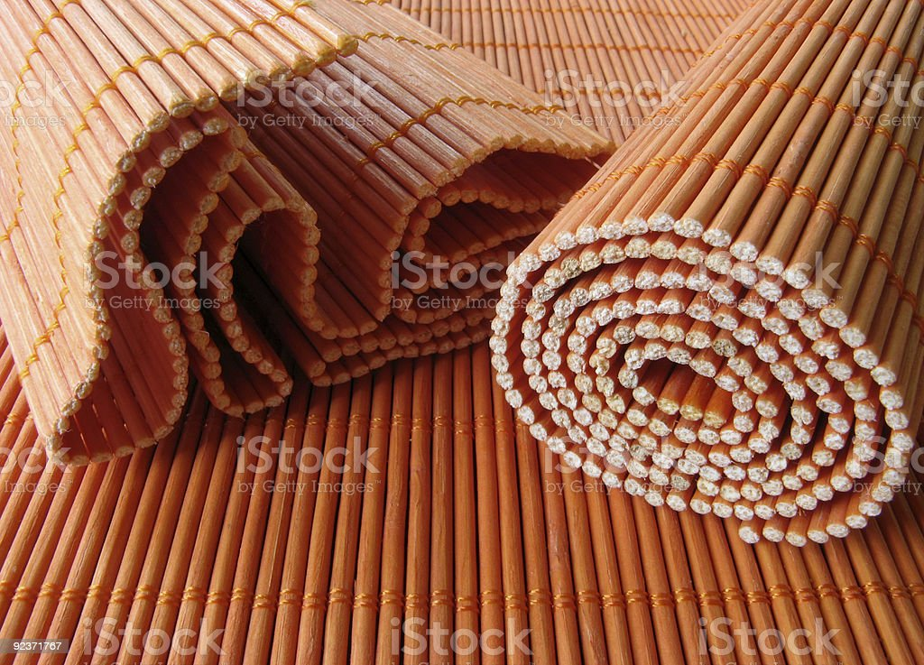 Wooden Placemats royalty-free stock photo