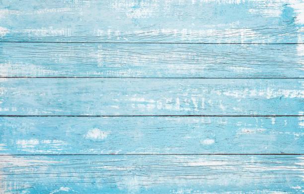 HolzPlanke blau Meer Farbe bemalt – Foto