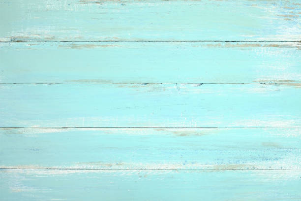 wooden plank painted in blue - teal backgrounds stock photos and pictures