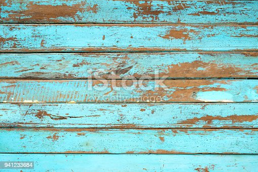 istock wooden plank painted in blue 941233684