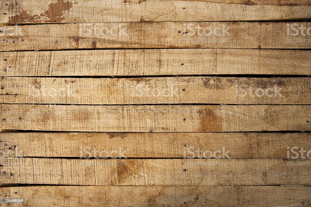 wooden planks nailed together stock photo