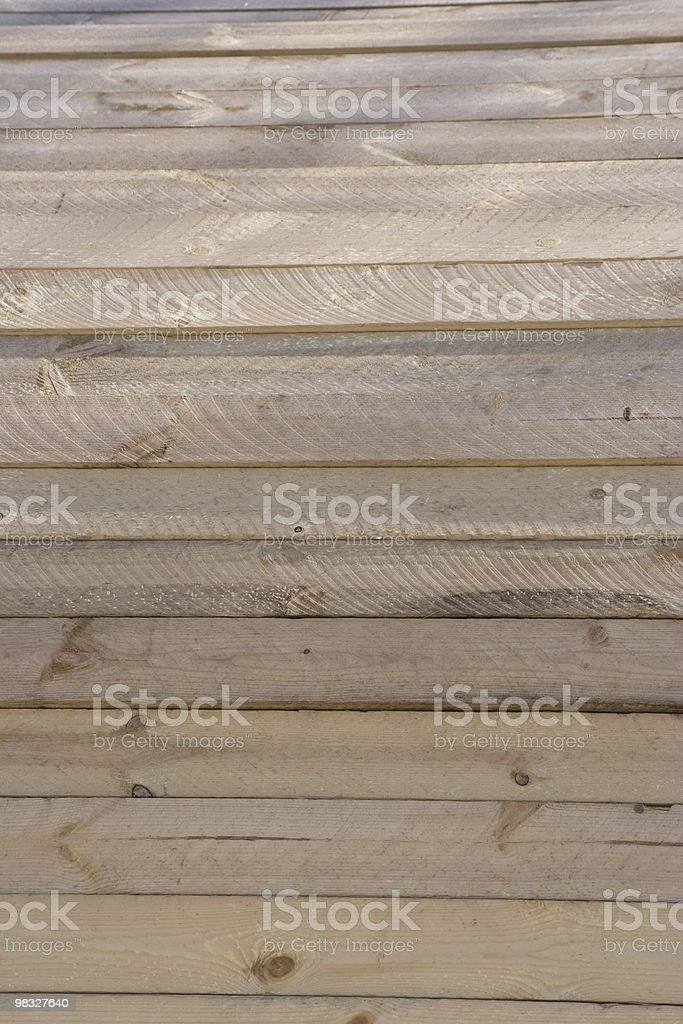 Wooden planks on industrial reel royalty-free stock photo