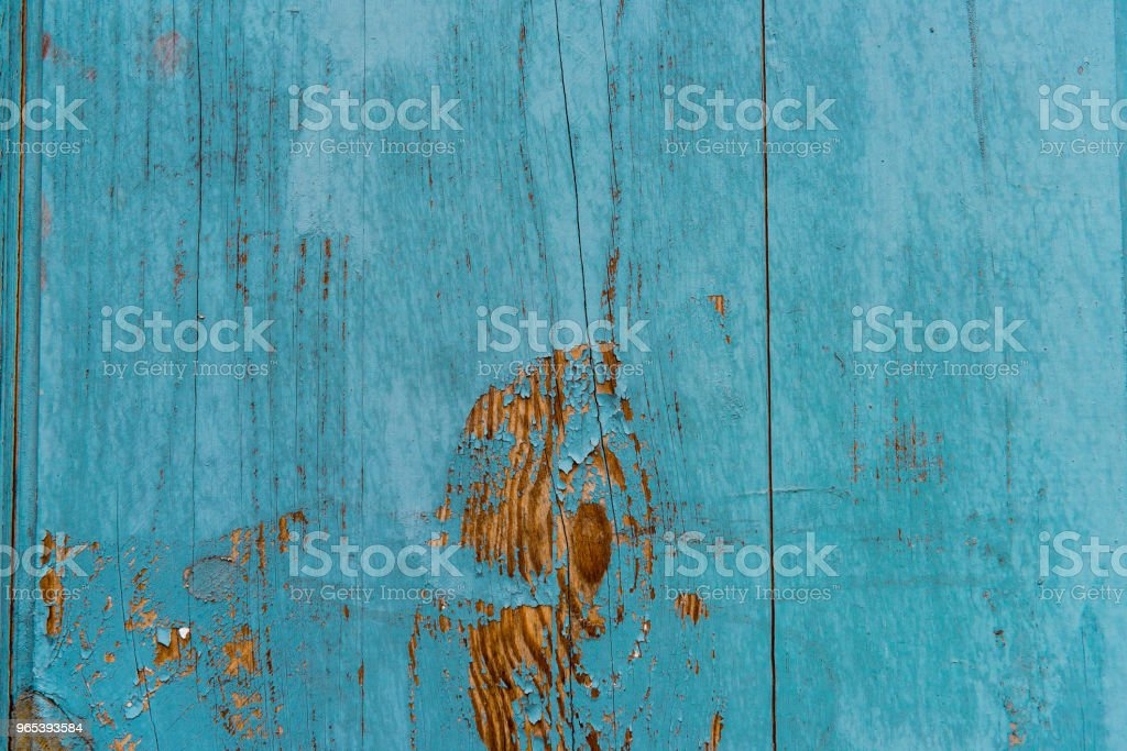 Wooden planks painted in blue background royalty-free stock photo