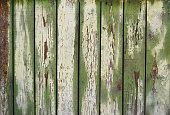istock wooden planks, wood background, green 610441366