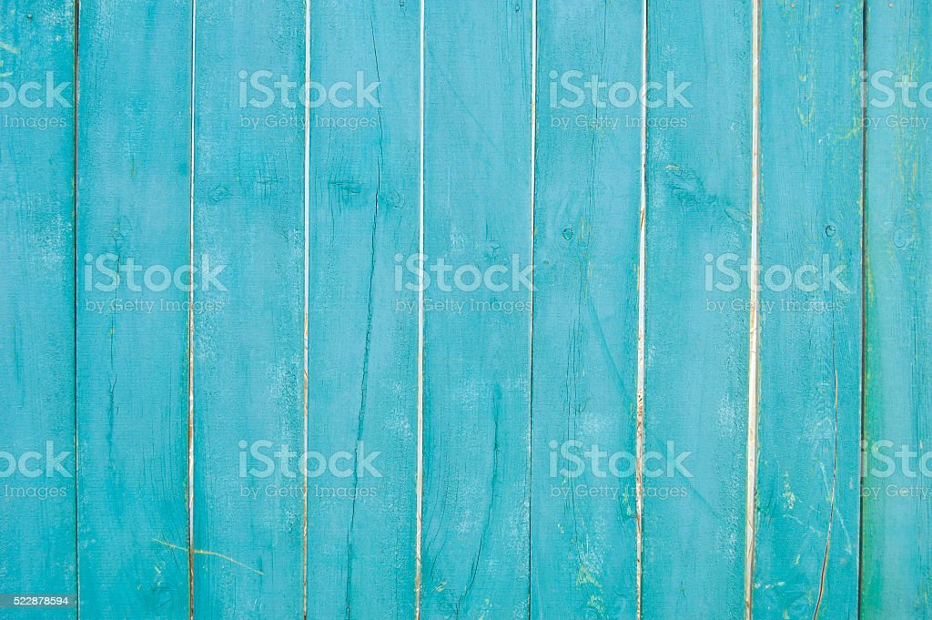 wooden planks, wooden background, blue stock photo