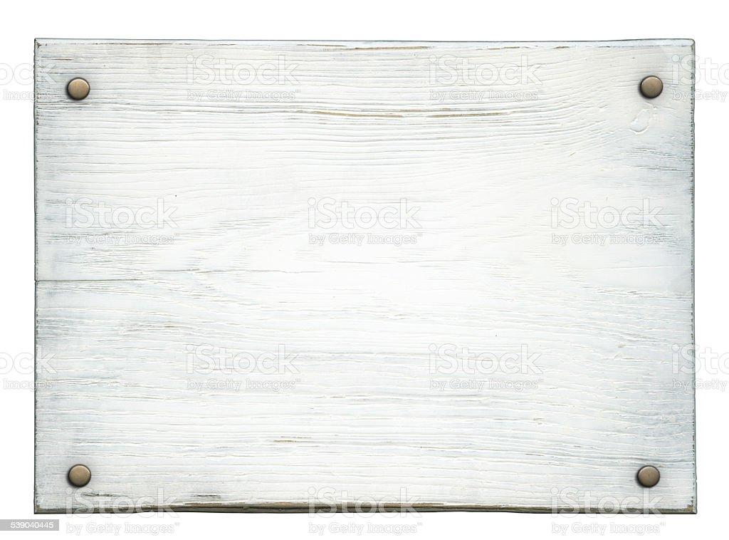 Wooden plaque stock photo