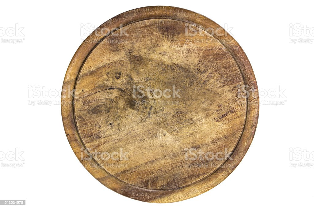 wooden plate on white stock photo