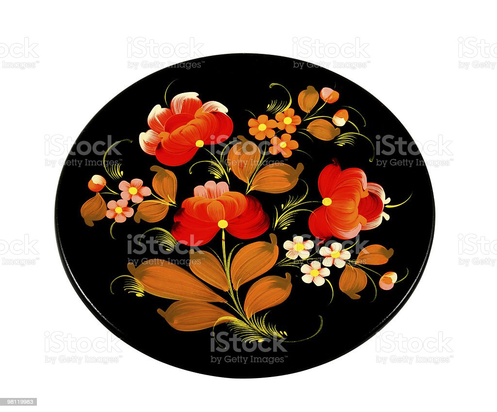 Wooden Plate royalty-free stock photo