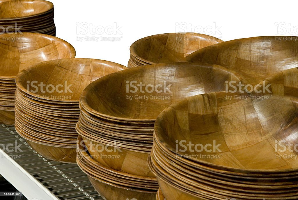 Wooden Ply Bowls royalty-free stock photo