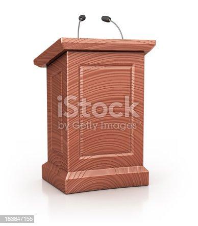 istock wooden podium 183847155