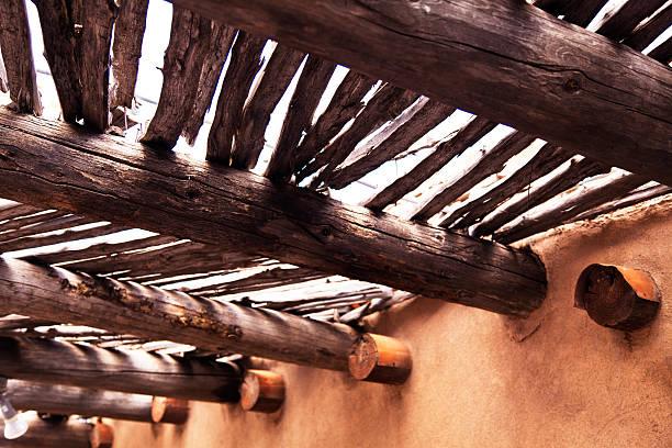 Wooden Portico stock photo
