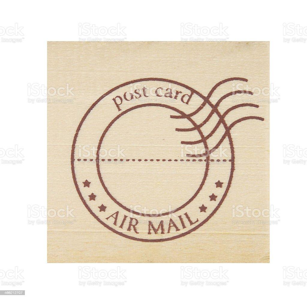 wooden postmark royalty-free stock photo