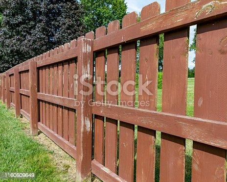 reddish brown fence