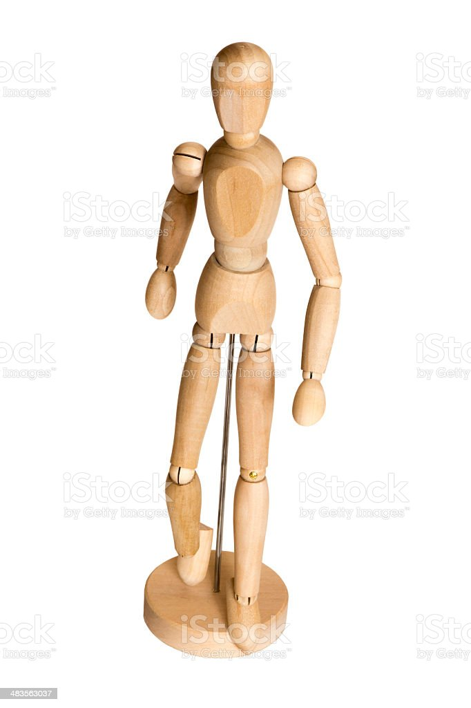 Wooden puppet toy stock photo
