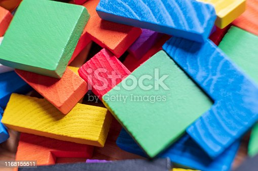 Wooden Puzzle, Logical Game, Toy Blocks, Puzzle, Colorful wooden pieces.