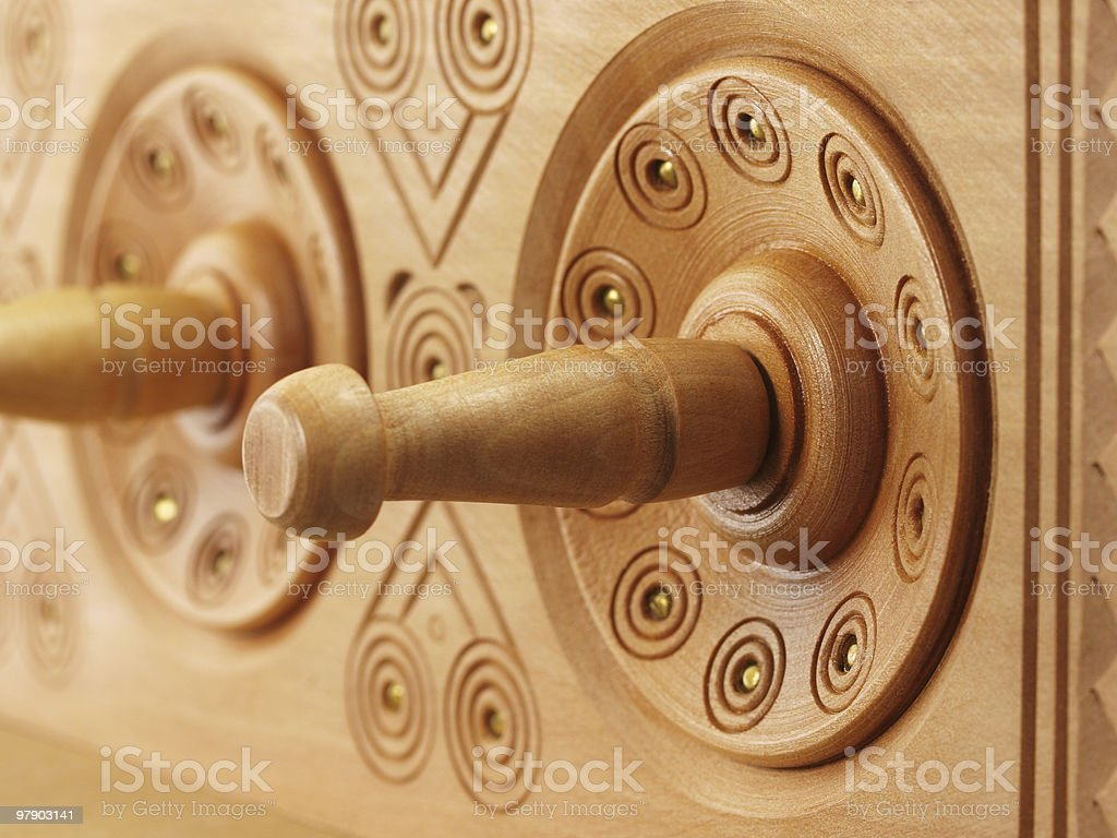 Wooden rack royalty-free stock photo