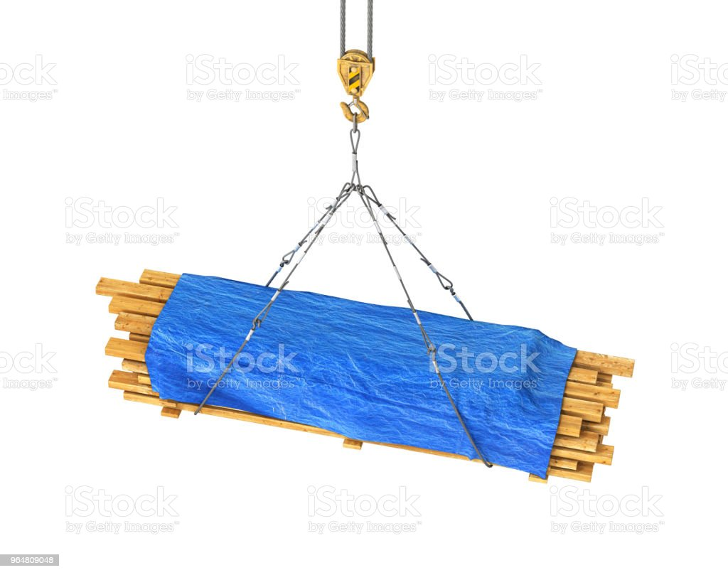 wooden rafters covered with a brisent on the tap 3d illustration royalty-free stock photo