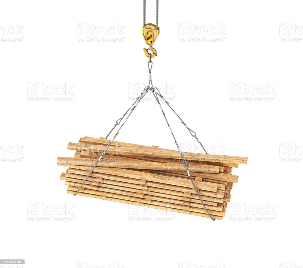 wooden rafters on a tap 3d illustration royalty-free stock photo