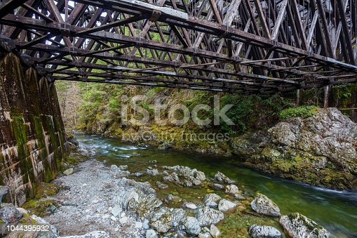Newly restored Kinsol Rialway Trestle in the Shawnigan lake area of Vancouver Island.