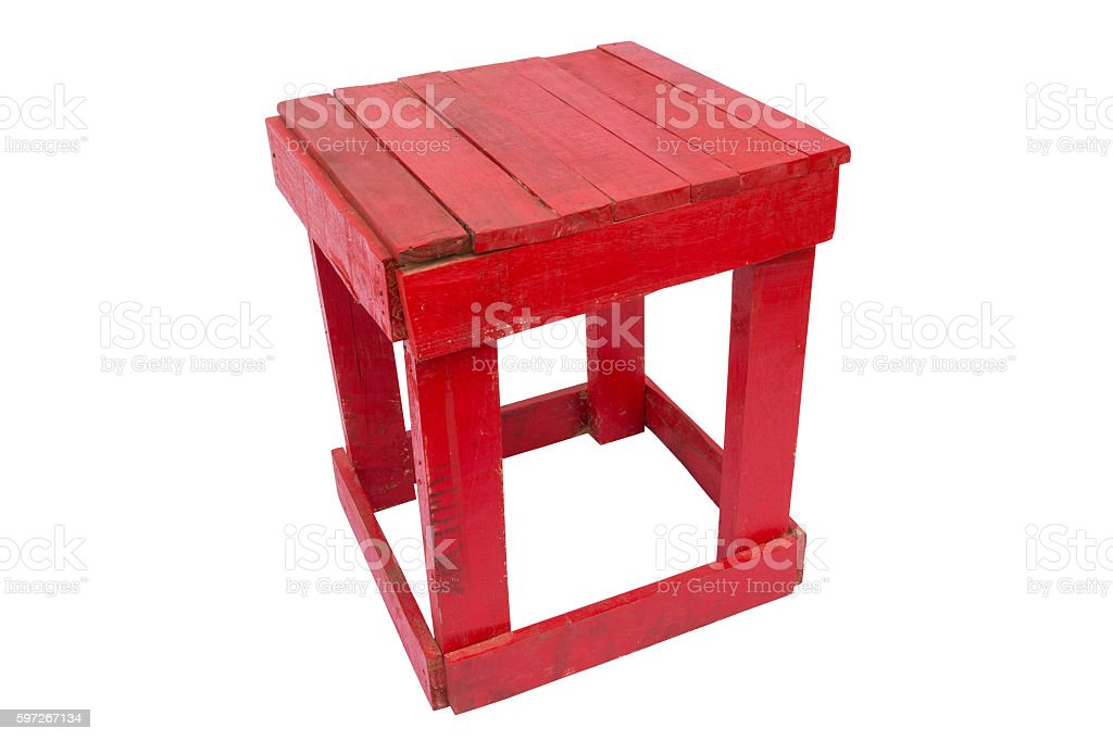 wooden red chair Lizenzfreies stock-foto