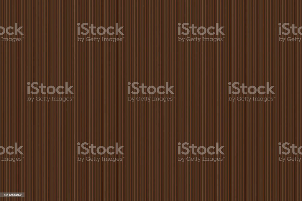 wooden ribbed pattern in dark brown small step stock photo