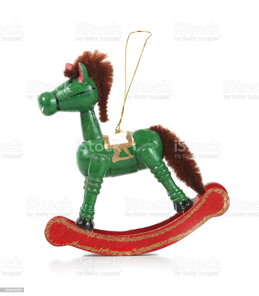 Wooden Rocking Horse Christmas Ornament On White Stock Photo Download Image Now Istock
