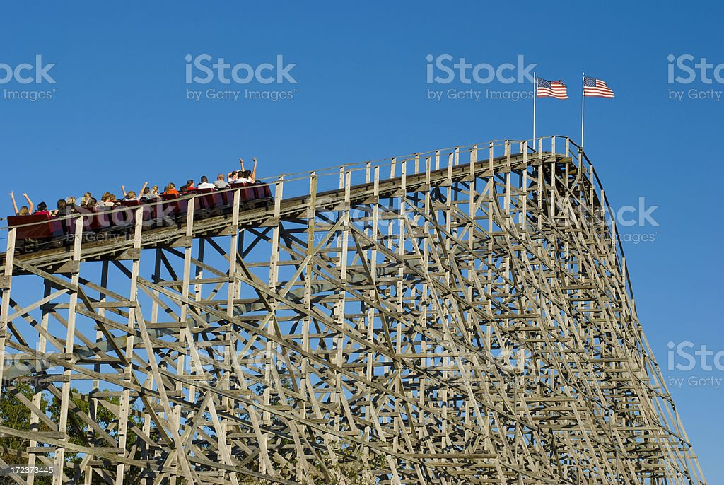 Wooden Rollercoaster 1 royalty-free stock photo