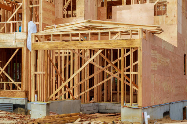 wooden roof construction, for home, house building - petticoat stock pictures, royalty-free photos & images
