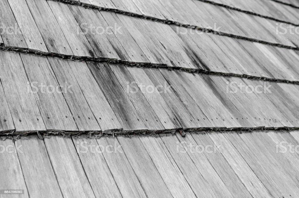 Wooden roof of an old house. royalty-free stock photo