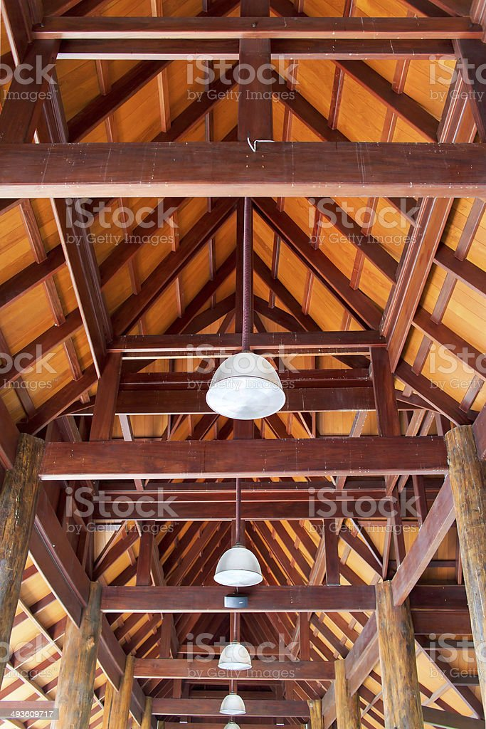 Wooden roof royalty-free stock photo