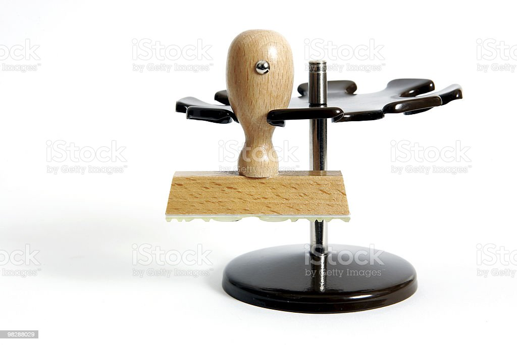 Wooden rubber stamp royalty-free stock photo