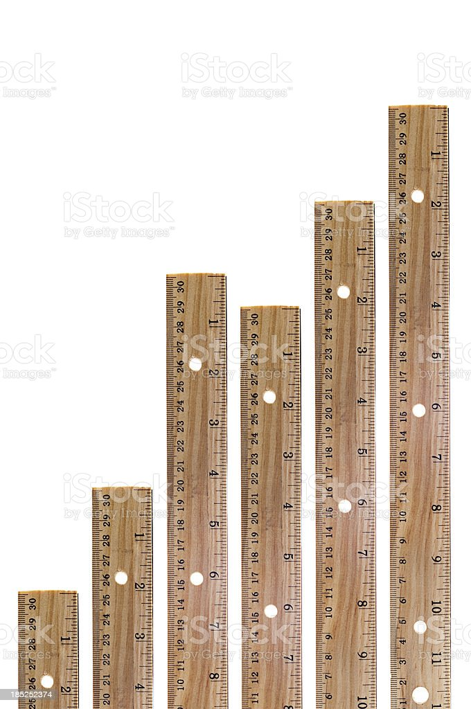 Wooden Ruler Graph royalty-free stock photo