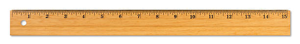 xl wooden ruler - ruler stock photos and pictures