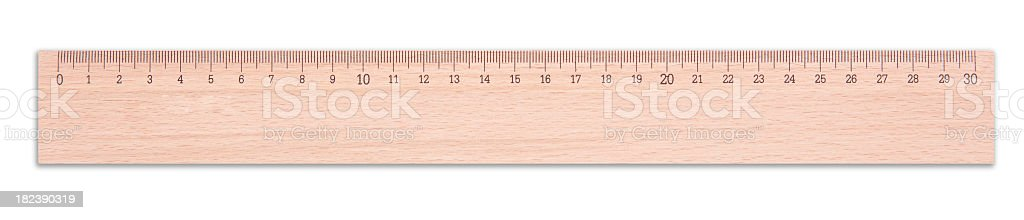 Wooden Ruler royalty-free stock photo