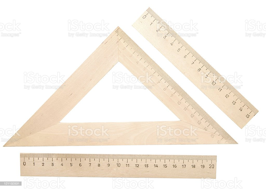 wooden rulers royalty-free stock photo