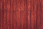 Wooden rural wall outside of red barn in Scandinavia. Background texture