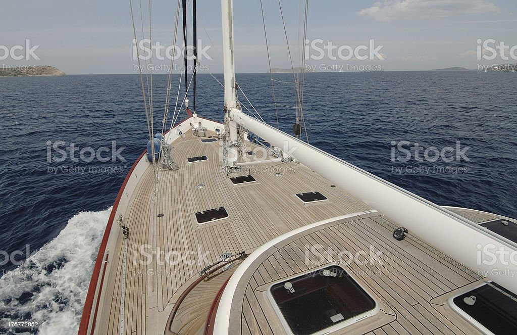 wooden sailboat stock photo