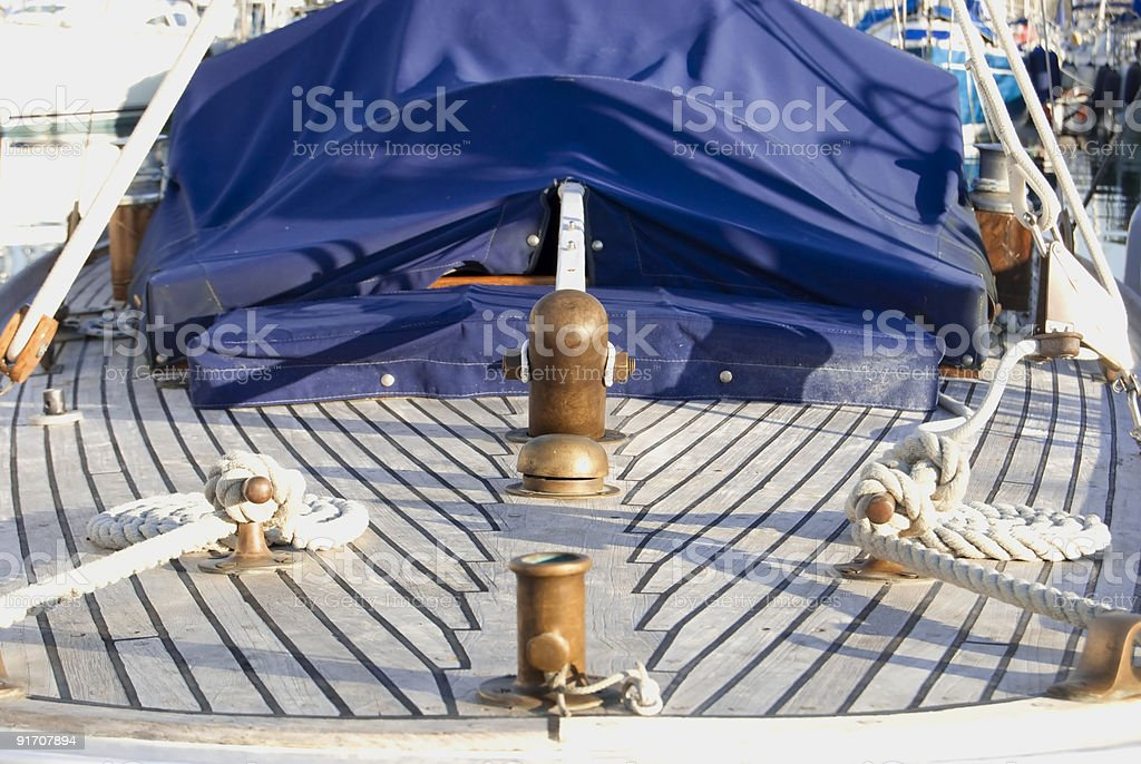 Wooden sailboat royalty-free stock photo