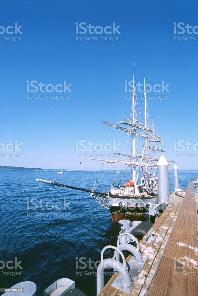 wooden sailing vessel royalty-free stock photo