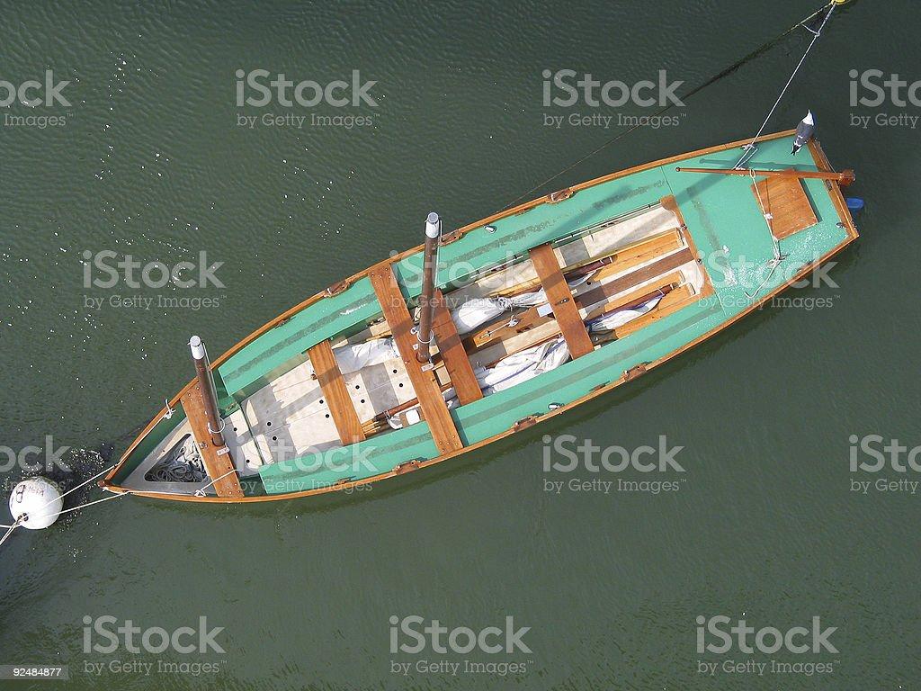 Wooden sailing-boat royalty-free stock photo