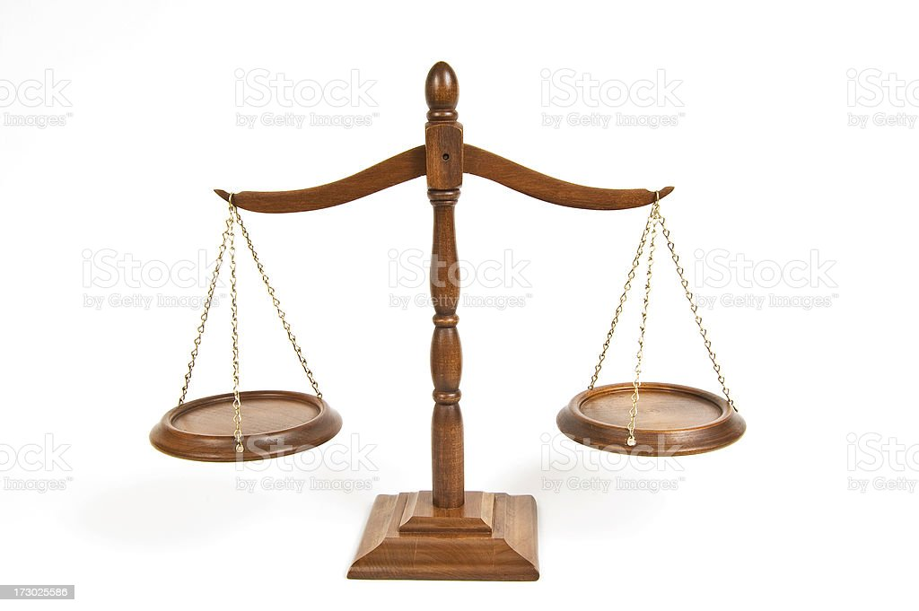 Wooden scales royalty-free stock photo